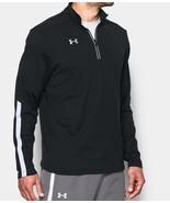 Under Armour Mens UA Qualifier 1/4 Zip Pullover 1273917-001 Black/White ... - $39.98