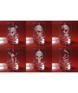 Set of 6 Shot Glasses SKULL, Jolly Roger, Skeleton - $39.99