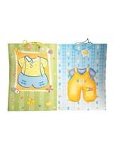 Baby Boy Shower Jumbo Glossy 2 pc Gift Bag Assortment 18 x 13 - $5.24