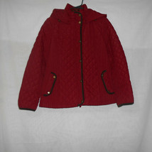 St John's Bay Red Quilted Jacket Womens Size Medium - €18,51 EUR
