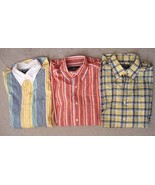 Lot Pre-Owned American Living Men Plaid Casual Button-Down Shirt Size M - $21.77