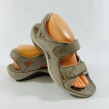 Merrell Via III Cement Womens size 9 Adjustable Leather Sandals Shoes - $27.76