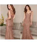 Vintage Lace Wedding Mother Of the Bride Dress Sheer Back Mother Suits C... - $143.55