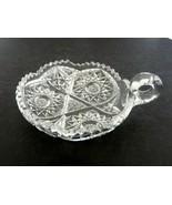 Huyler Pattern Brilliant Cut Glass Handled Nappy Tidbit Sawtooth Edge  - $1,979.01