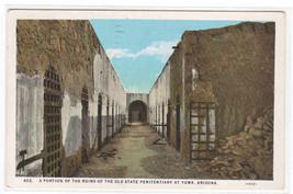 Old State Penitentiary Prison Ruins Yuma Arizona 1929 postcard - $6.50
