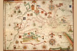 The Portolan Chart of Mediterranean, Europe, British Isles & Part of Scandinavia - $26.72+