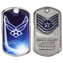 Army Coin: Tech Serg EAN T With Plastic Sleeve - $17.80