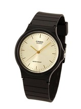 Casio MQ24-9E Men's Resin Band Casual Gold Dial Analog Watch - $17.00