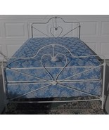 Country Farmhouse iron bed;Mattress,Boxspring;Fancy Frame;Space Saver;NO... - $300.00