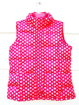Gap Kids Girls Fleece Lined Polka Dot Puffer Vest Pink Sleeveless  XXL 1... - $19.79