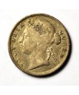 1901 Straits Settlements 10 Ten Cents Silver Coin KM# 11 - £14.32 GBP