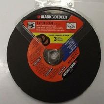 """Black & Decker 63-217W3 7"""" x 1/8"""" x 5/8"""" Metal Abrasive Saw Blades 3pk - $2.97"""