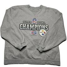 Reebok Mens M Pittsburgh Steelers Super Bowl XL Superbowl Crewneck Sweatshirt - $34.93
