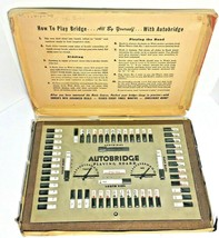 Vintage 1957 Autobridge Playing Board Bridge Game Milton Bradley Masonit... - $43.90