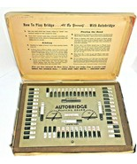 Vintage 1957 Autobridge Playing Board Bridge Game Milton Bradley Masonit... - $43.90