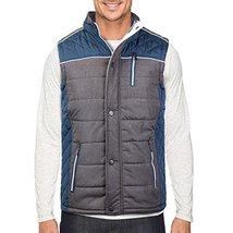 Holstark Men's Zip Up Insulated Fleece Lined Two Tone Vest (Medium, Teal)