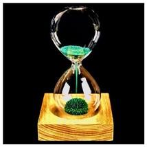 Magnetic Hourglass Timer Home Sand Clock Desk Decor Glass Desktop Decora... - $16.44