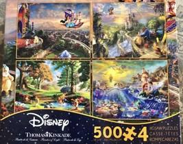 Thomas Kinkade Disney Princess 500 Piece 4 in 1 Puzzle - $37.12
