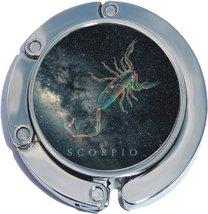 Scorpio Zodiac Scorpion Stars Foldable Purse Hanger - $9.78