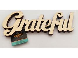 """Unfinished Wooden """"Grateful"""" Sign"""