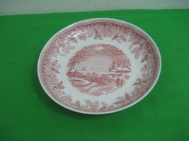 Vintage Spode Porcelain Dish Winter's Eve S3755-A3 Cranberry Red Ascot E... - $26.14