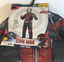 Captain America Civil War  ANT- MAN Boy Costume Size Large (10-12) Muscl... - $21.45