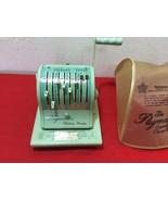 VTG Paymaster Ribbon Writer Series 8000 Check Writer Green Color - $50.00