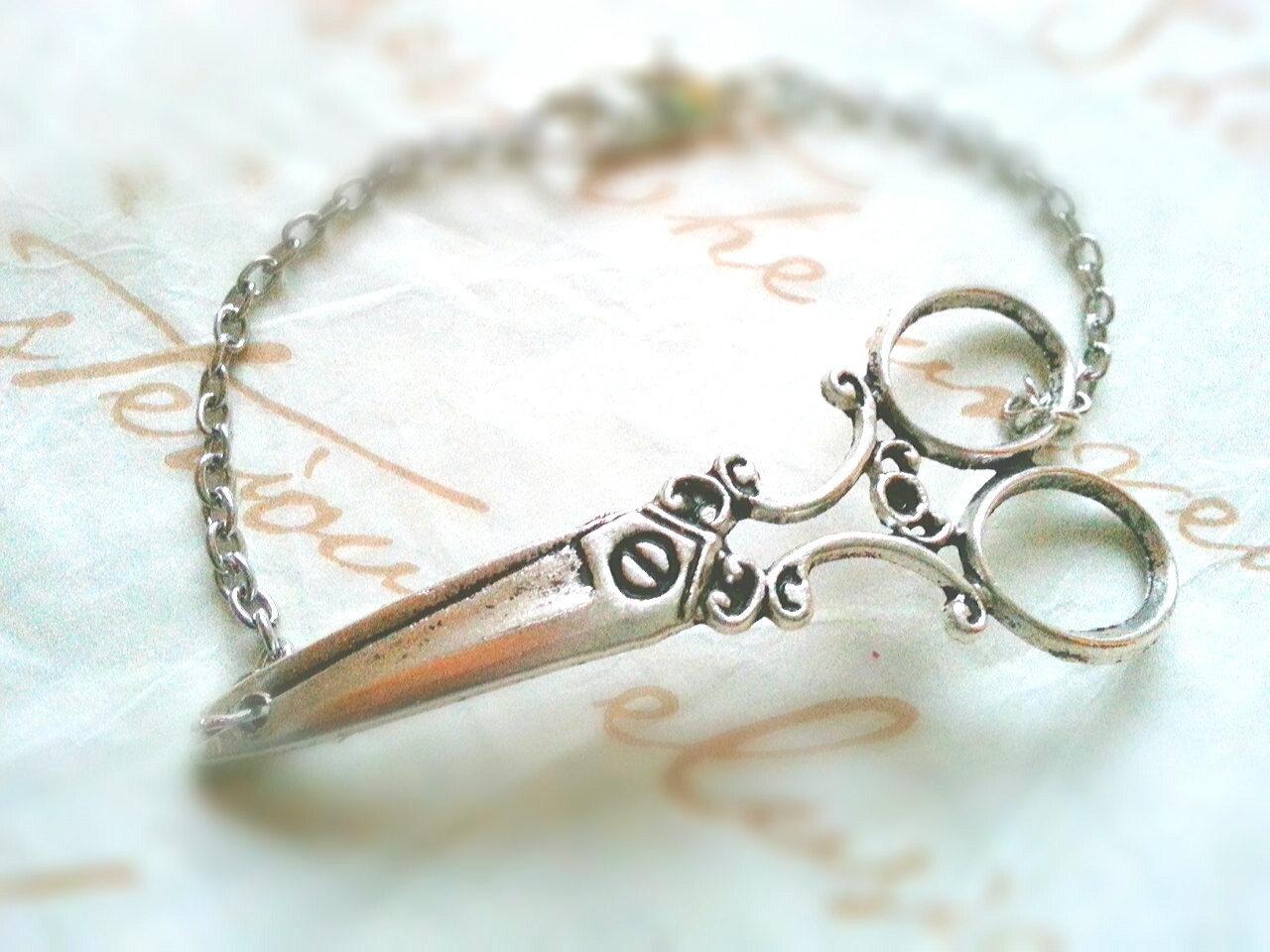 Silver Scissors Bracelet Hairdresser Bracelet Scissors Cuff Bracelet Silver Scis