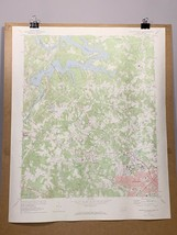 Charlotte North Carolina Mountain Island Lake Old Map 1969 Topographical... - $29.99