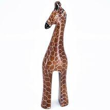 "Crafts Caravan Hand Carved Soapstone Stately Giraffe 6.5"" Figurine Sculpture image 3"