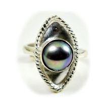 Natural Birthstone Pearl Sterling Silver Ring Women Handmade Jewelry Siz... - $23.56