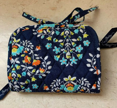 Vera Bradley Chandelier Jewelry Travel Case Organizer Blue Floral Quilte... - $19.79
