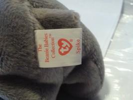 1ST Edition Beanie Babies Rare Spike the Rhino, No star, No stamp, PVC image 2