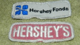 VINTAGE HERSHEY EMPLOYEE UNIFORM PATCH LOT OF 2 USED FREE USA SHIP PLEAS... - $12.19