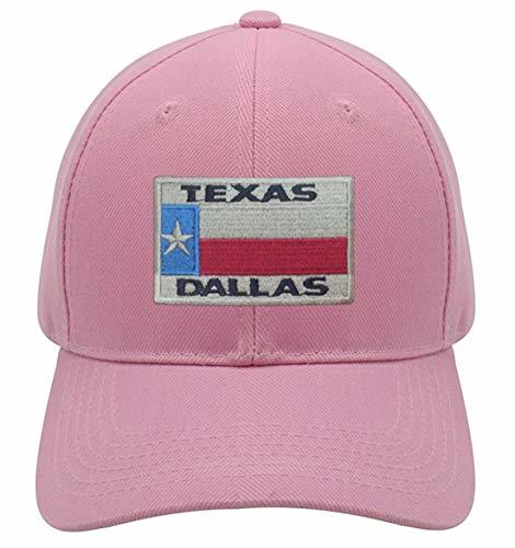 Dallas Texas Hat - Flag Unisex Adjustable Cap (Pink)