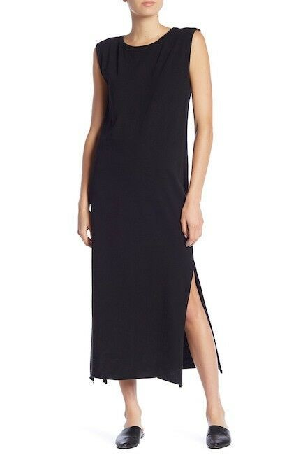 NEW 148$ Current Elliott T Shirt Dress The Delphi Maxi Tee BLACK  *0-3