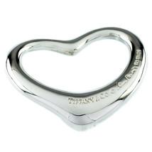 Tiffany & Co. Elsa Peretti Cuore Aperto Grande Ciondolo Argento Sterling image 1
