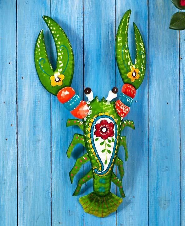 Primary image for The Lakeside Collection Tropical Lobster Metal Sculptures,Green
