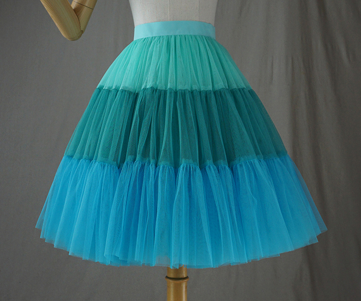 Tulle skirt blue 3color 3