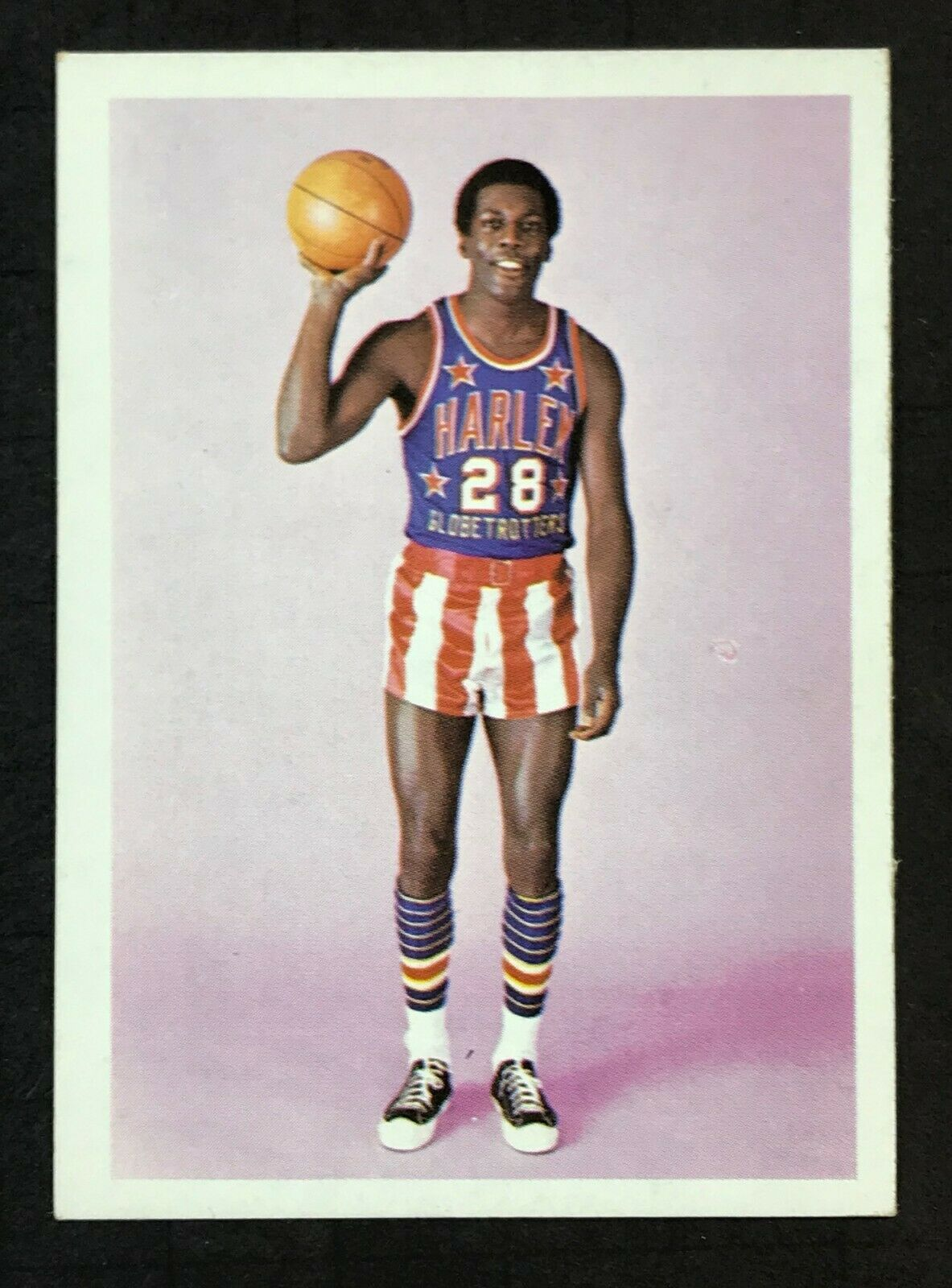 1972-73 Fleer Harlem Globetrotters #74 Bobby Hunter Rookie Basketball Card