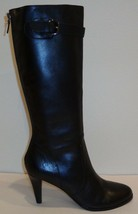 Ellen Tracy Size 10 M GILLIAN Black Leather Knee High Boots New Womens S... - $147.51