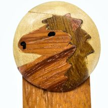 Northwoods Country Western Horse Parquetry Wood Bookmark image 3