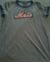 New York NY  Mets Majestic Threads Bling Logo M-L ? T Shirt!! Mlb Baseball - $16.08