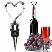 Hoomall® Heart Wine Stopper Cork Stainless Steel Red Wine Opener Air Pre... - £2.68 GBP