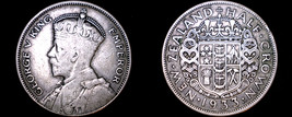 1933 New Zealand 1/2 Crown World Silver Coin - $49.99