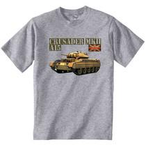 Crusader Mkii A15 British Tank - New Cotton Grey Tshirt - $23.16