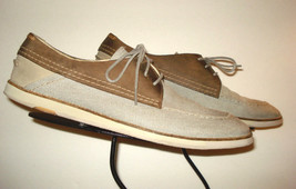 """J Shoes """"District Fab"""" Casual Cool Slate Gray Brown Leather Trim Oxford ... - $40.47"""