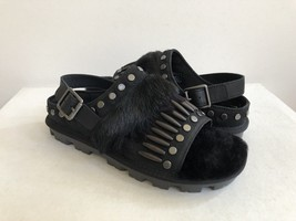 UGG BIKER CHIC BLACK MOCASSIN SLIP ON SANDAL US 9.5 / EU 40.5 / UK 8 - €88,49 EUR