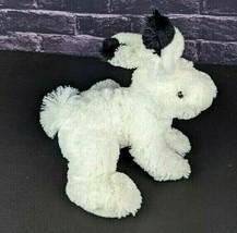 "Wild Republic Plush White Rabbit 8"" Stuffed Animal Black Tipped Ears Bunny 2013 - $21.77"