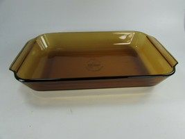 Vintage ANCHOR HOCKING Fire-King 2 QT Amber Brown Glass Casserole Dish 4... - $59.39